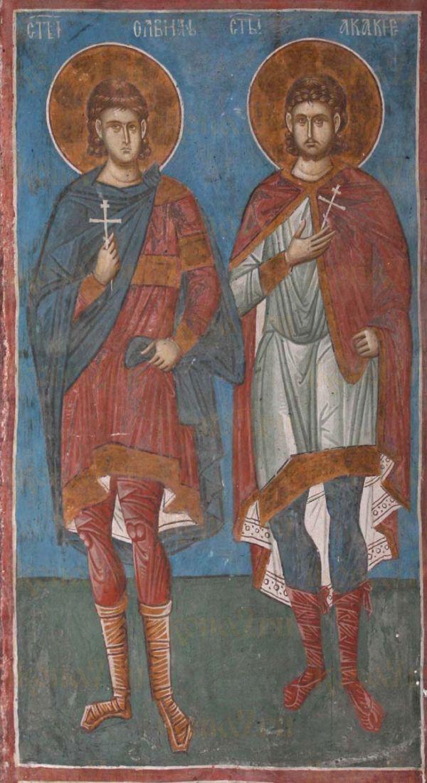 Икона Акакий Каппадокиянин Сотник Византийский мученики