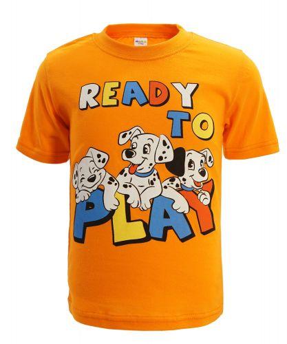 "Футболка для мальчика 1-4 года Dias kids ""Ready to play"" оранжевая"