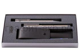 Набор Lamy Logo перламутровый Ручка перьевая 006 F + Ручка шариковая 206 + кожаный чехол