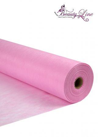 Простыни одноразовые - 70/200, плотность - 20; --- 100 шт. Цвет Розовый