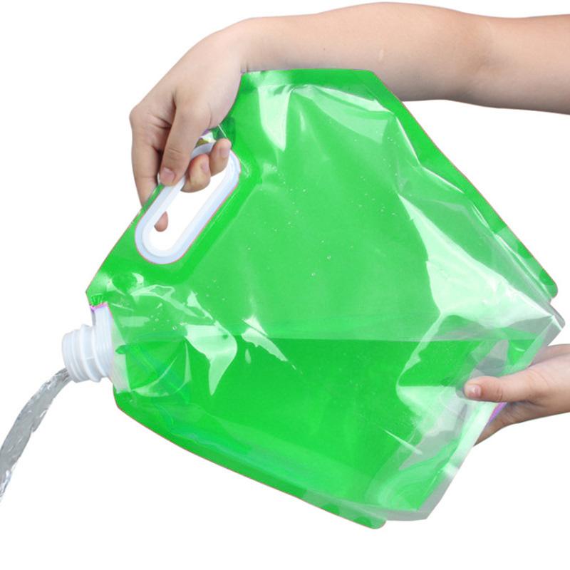 Складная канистра для воды 3 л (цвет зелёный)
