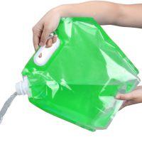 Складная канистра для воды 3 л (цвет зелёный)_1