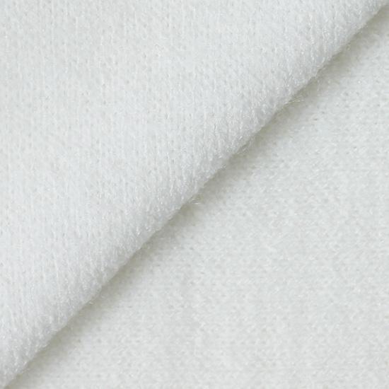 Лоскут трикотажной ткани Белый Ангора 50х30 см