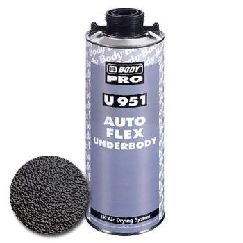 Черный антикорозионный, антигравий состав BODY 951 Autoflex с креплением UBS, 1 л.