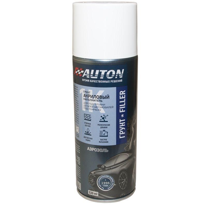 """Auton 1К acryl Filler Грунт акриловый, название цвета """"Красно-коричневый"""", в аэрозольном баллоне, объем 520мл."""