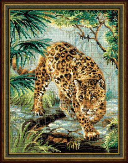 Набор для вышивания крестом Хозяин джунглей №1549 фирма Риолис