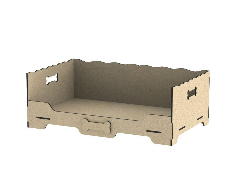 Лежанка для собак в виде кроватки простая