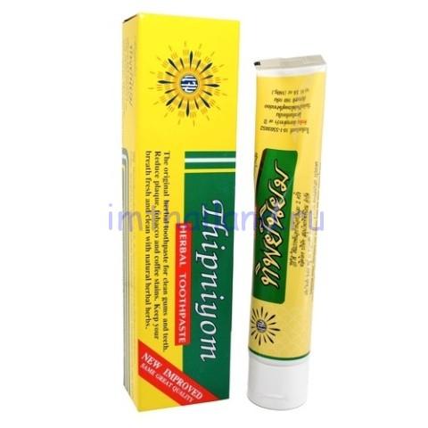 Тайская зубная паста Thipniyom травяная 160 гр