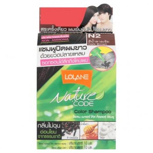 Тайский шампунь безаммиачный оттеночный Lolane цвет Темный шатен
