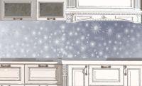 Фартук для кухни - Снежная паутинка | Магазин Интерьерные наклейки