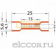 СОЕДИНИТЕЛЬНЫЕ ГИЛЬЗЫ изолированные ( VB 1.25 ) REXANT
