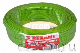 Провод монтажный (автомобильный) 0.5 мм2 100м зеленый (ПГВА) REXANT