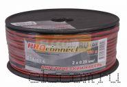 Кабель акустический 2х0.25 мм2 100м (красно-черный) PROCONNECT