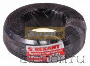 Провод монтажный (автомобильный) 1.5 мм2 100м черный (ПГВА) REXANT