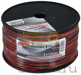 Кабель акустический 2х1.5 мм2 100м (красно-черный) PROCONNECT