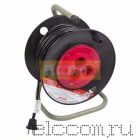 Удлинитель на катушке 30м (3 роз.) 2х1.0 REXANT (Сделано в РОССИИ)