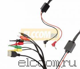 Лабораторный источник питания 1502DD 15V-2A 2xLED с комплектом кабелей+