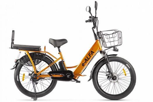 Велогибрид GREEN CITY e-ALFA Fat Оранжевый