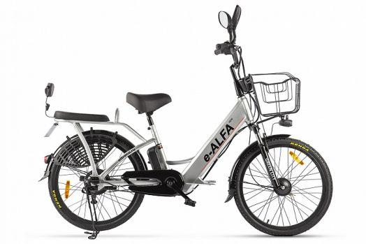 Велогибрид GREEN CITY e-ALFA new Серебристый