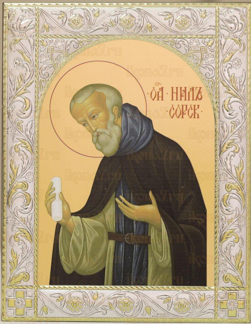 Икона Нил Сорский преподобный (14х18см)
