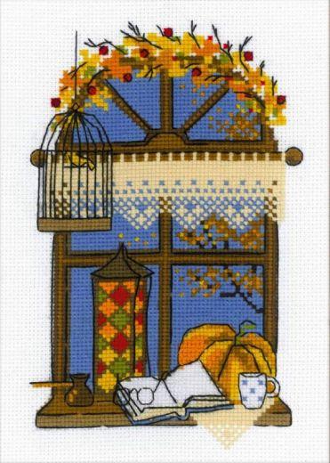 Набор для вышивания крестом Осеннее окошко №1593 фирма Риолис