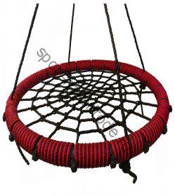"""Подвесные качели """"гнездо"""" диаметром 80 см KIDGARDEN красный"""