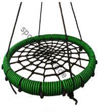 """Подвесные качели """"гнездо"""" диаметром 80 см KIDGARDEN салатовый"""