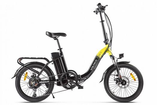 Велогибрид VOLTECO FLEX Черно желтый