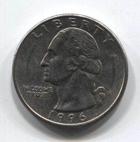 1/4 доллара 1996 года США