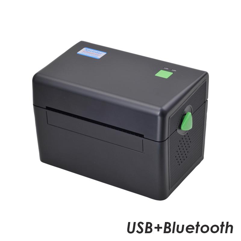 Принтер этикеток  Xprinter XP-DT108B (USB+Bluetooth) черный + держатель этикеток