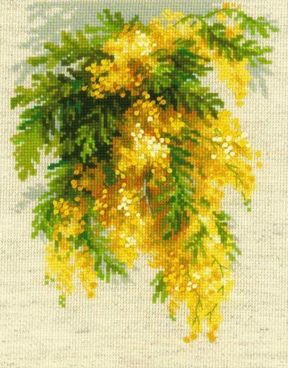 Набор для вышивания крестом Мимоза № 1615 фирма Риолис