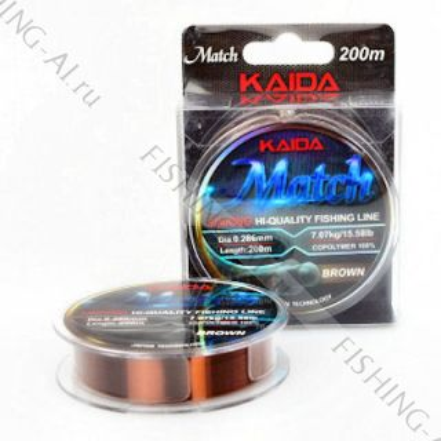 "Леска Kaida ""Match"" Sinking 200 м 0.165 мм"