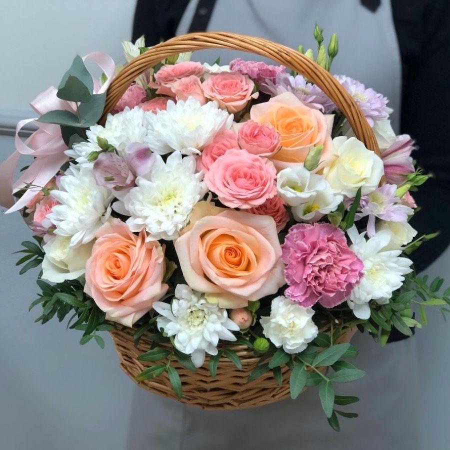 Цветы в корзине №1