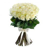 Белые розы 50 см