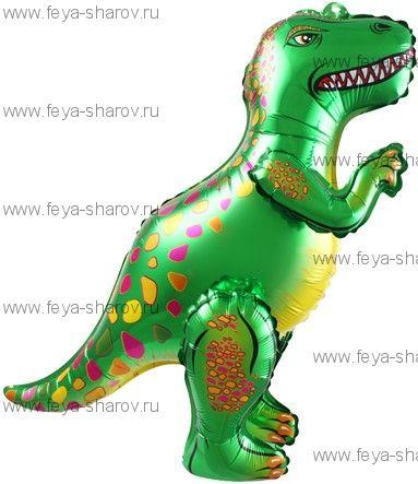 Шар Динозавр Аллозавр 64 см Зеленый