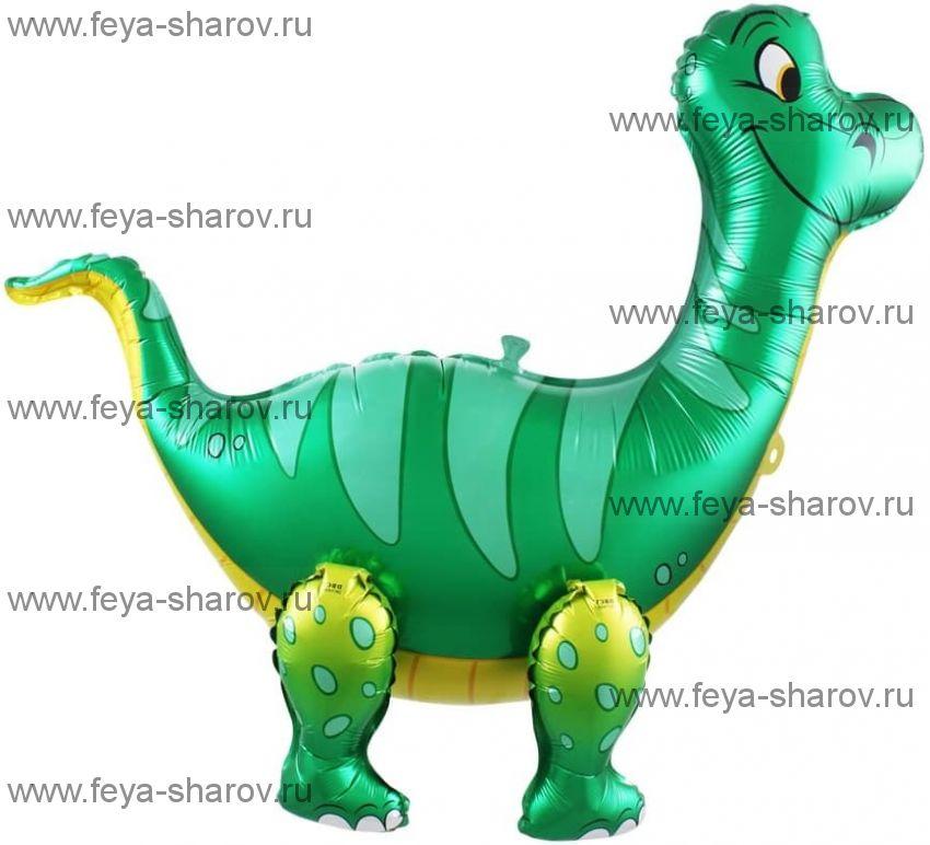 Шар Динозавр Брахиозавр 71 см Зеленый