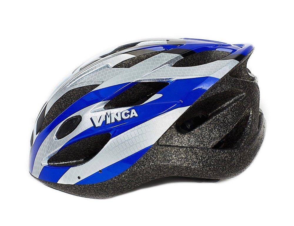 Шлем велосипедный взрослый VSH 23 New Azuro бело-синий