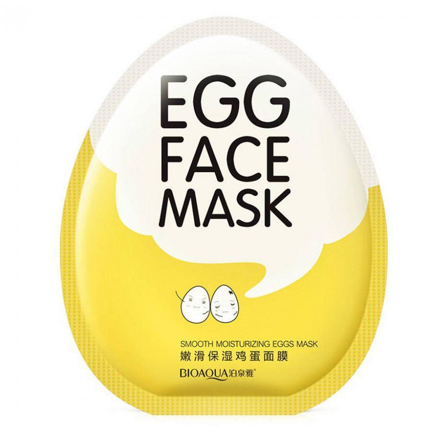 Увлажняющая маска для лица с яичным желтком, BIOAQUA