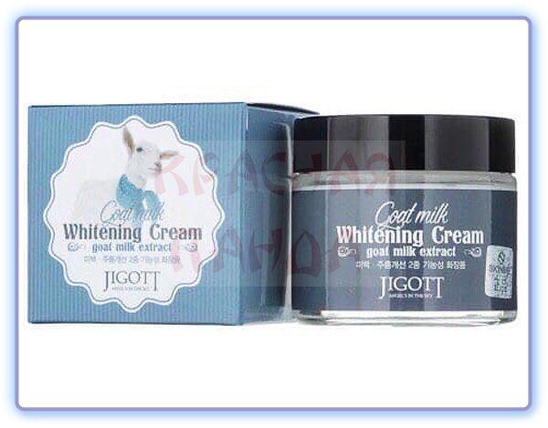 Отбеливающий крем с экстрактом козьего молока Jigott Goat Milk Whitening Cream