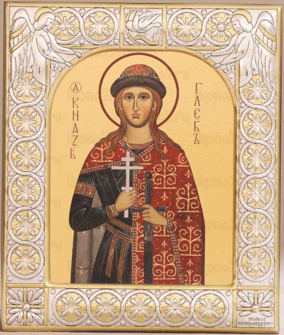 Икона Глеб благоверный князь (9х10,5см)