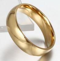 Позолоченные обручальные кольца (4 мм)