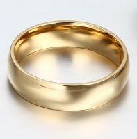 Позолоченное кольцо 6 мм