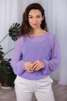 Комплект (блуза и топ) арт.0156-33 лаванда, шифон+вискоза