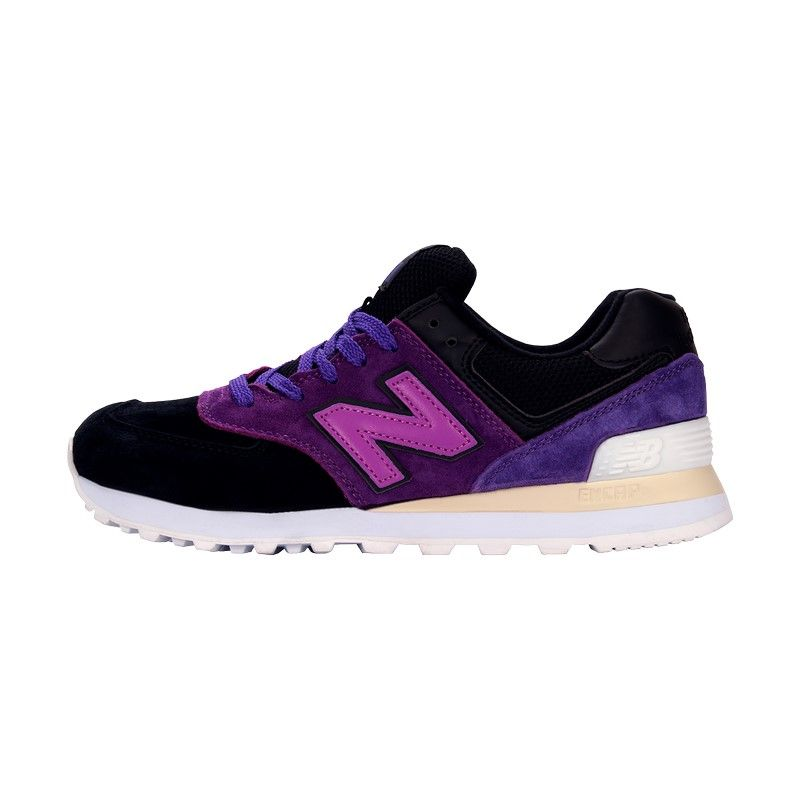 Кроссовки New Balance 574 черно-фиолетовые