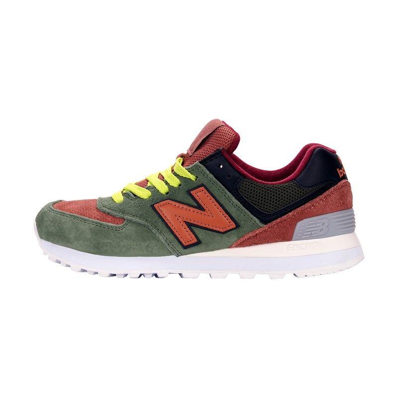 Кроссовки New Balance 574 зелено-коричневые