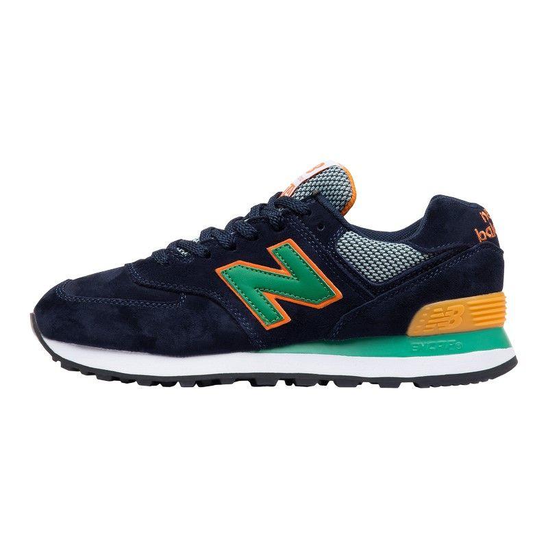 Кроссовки New Balance 574 WL сине-зеленые