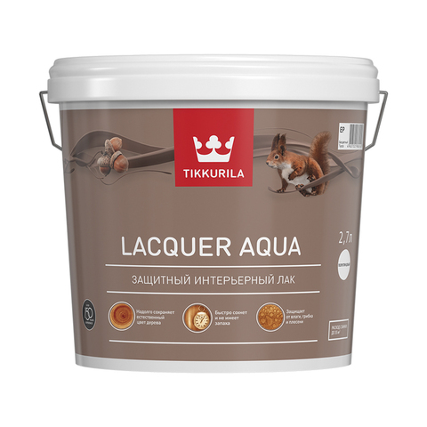 Лак для внутренних работ Euro Lacquer Aqua