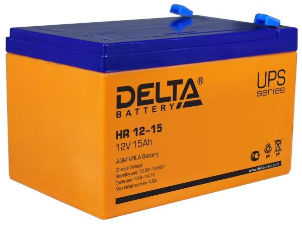 Батарея аккумуляторная Delta 12В 15Ач HR12-15
