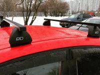 Багажник на крышу Opel Astra H, Евродеталь, стальные прямоугольные дуги