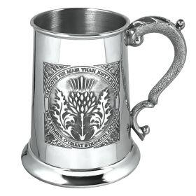 """Кельтский зеркальный Танкард (пивная кружка) - """"Чертополох- символ силы и власти"""" -1 Pint Tae A Thistle Tankard"""